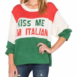 Wildfox Couture Kiss Me I'm Italian Sweater